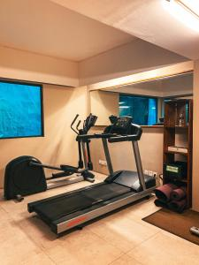 The fitness centre and/or fitness facilities at Kosenda Hotel