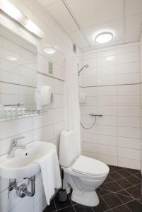 Et badeværelse på Hotel Ansgar
