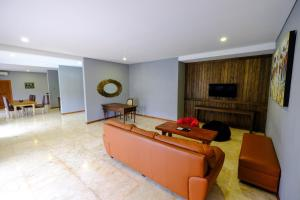 A seating area at The Westlake Hotel & Resort Yogyakarta