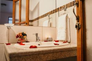 A bathroom at Lunandina