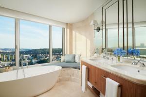 A bathroom at Corinthia Lisbon