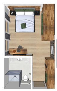 The floor plan of Hotel Rose