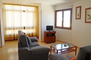 A seating area at Apartamento Mari Carmen