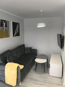 A seating area at Apartament 44m2 w centrum