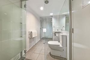 A bathroom at The Capitol Apartments