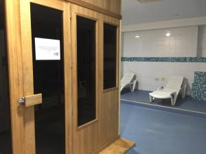 A bathroom at Hotel San Millán