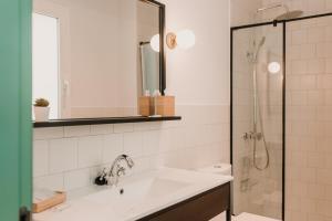 A bathroom at Lindala