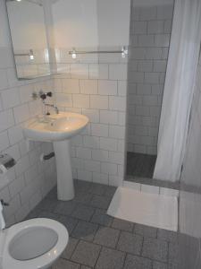 Koupelna v ubytování bike-Hotel Měděnec
