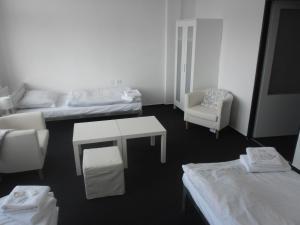 Postel nebo postele na pokoji v ubytování bike-Hotel Měděnec