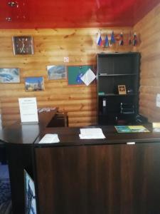 The lobby or reception area at Metelitsa Inn
