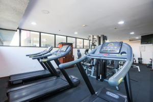 The fitness center and/or fitness facilities at Radisson Hotel Belém