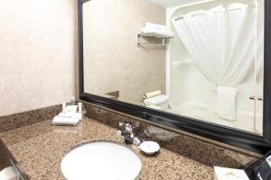 A bathroom at Royal Hotel West Edmonton, Trademark Collection by Wyndham