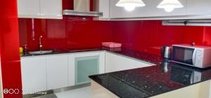 A kitchen or kitchenette at Bintang Service Suite at Times Square