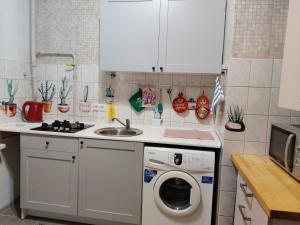 A kitchen or kitchenette at ApartVictory