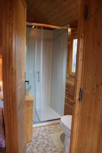 Salle de bains dans l'établissement Ferme Saint Pierre
