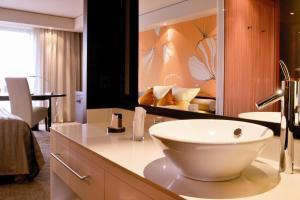 A bathroom at Atrium Hotel Mainz