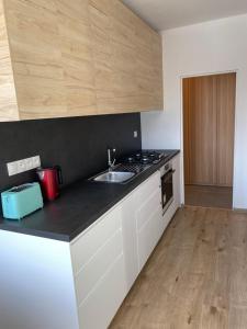 Kuchyňa alebo kuchynka v ubytovaní Apartmán Centrum Komfort