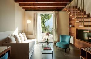 Een zitgedeelte bij Hotel Belvedere