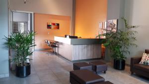 El lobby o recepción de Umbral del Aconcagua