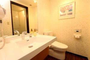 A bathroom at Hotel 3 O'Clock Tennoji