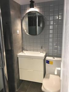 A bathroom at GalDan vacation apartments
