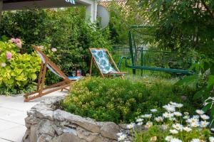 Zahrada ubytování Apartman Lucija