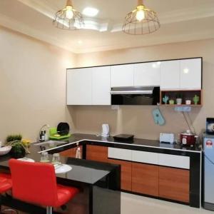 A kitchen or kitchenette at Juara Mutiara Resort