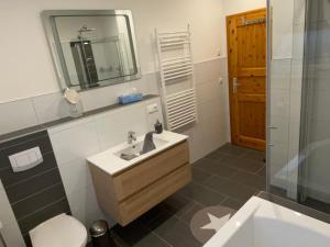 Ein Badezimmer in der Unterkunft Fewo Barth