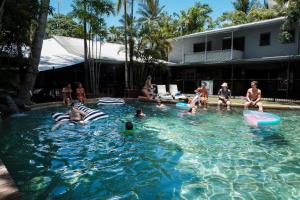 The swimming pool at or near Why Not Backpackers