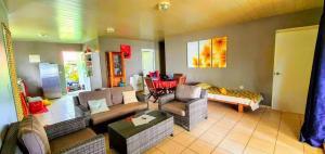 Uma área de estar em MOOREA - Fare Taina Iti et Nui