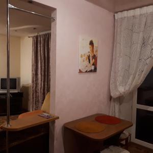 Телевизор и/или развлекательный центр в Апартаменты студия на Фрунзе