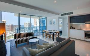 A seating area at Hilton Surfers Paradise Hotel & Residences