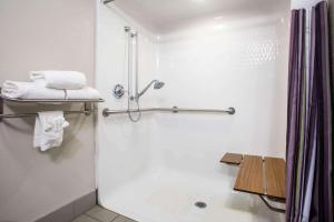 A bathroom at La Quinta Inn & Suits by Wyndham Pontoon Beach IL