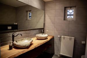 Een badkamer bij Boerderij Zonneveld