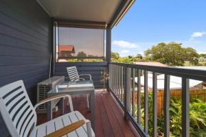 A balcony or terrace at Marche Home Stay, Immaculate Presentation, Private & Relaxing