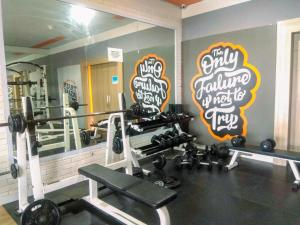 The fitness center and/or fitness facilities at Clean Studio Apartment at Grand Dhika City By Travelio