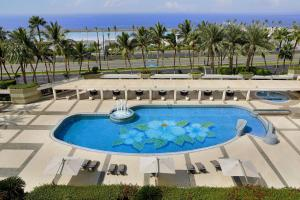A view of the pool at Jeddah Hilton or nearby