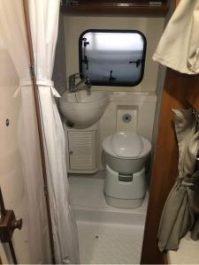 A bathroom at Rent a Camper
