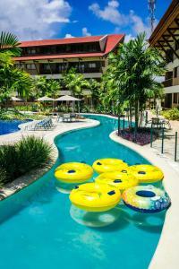A piscina localizada em Flat pé na areia vista mar Oka Beach Muro Alto ou nos arredores