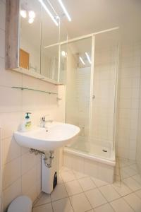 Ein Badezimmer in der Unterkunft Ferienwohnungen Wendenmühle
