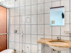 Um banheiro em Palace Hotel Itapira