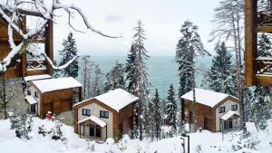 Hancioglu Orman Evleri (Bungalow) & Hotel خلال فصل الشتاء