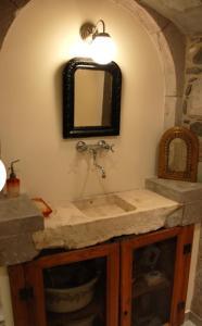 Salle de bains dans l'établissement Gîte La Grange