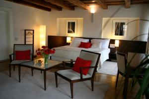 Ein Sitzbereich in der Unterkunft Domus Balthasar Design Hotel