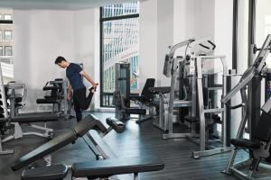 The fitness center and/or fitness facilities at Four Seasons Hotel New York Downtown