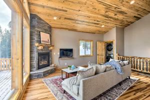 A seating area at Mountainside Fairplay Cabin with Game Room and Sauna!