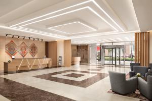 The lobby or reception area at Ramada by Wyndham Dubai Deira