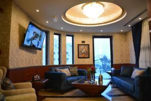 منطقة جلوس في سما عمان للشقق الفندقية Sama Amman