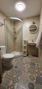 A bathroom at Dom Na Bukowym Wzgórzu