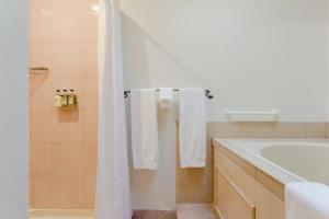 A bathroom at Cottage Grove Inn